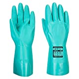Portwest - A810 gnrl química guante de nitrilo de protección l verde