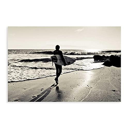 Póster de arena de mar mar mar playa paisaje concha surf cartel 23 lienzo arte decoración de pared impresión cuadros para sala dormitorio decoración Unframe: 30 x 45 cm