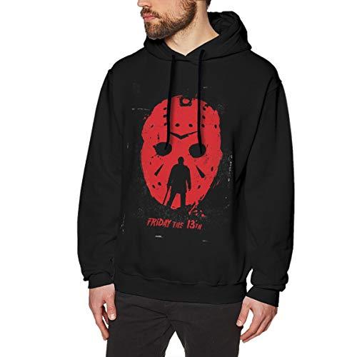 Scottdstalter Felpe Casual Pullover Friday The 13th Grafica Marvel Black 3XL Felpe con Cappuccio da Uomo Manica Lunga
