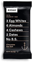 RxBar, Whole Food Protein Bar, Chocolate Sea-Salt, 1.8 oz