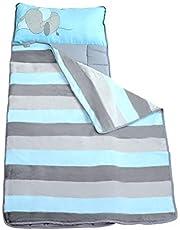 Mantas para niños pequeños para guardería preescolar - Manta + almohada para niños o niñas - Funda plegable cómoda (elefante bebé)