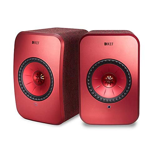 KEF LSX WLAN Lautsprecher Rot, Aktivlautsprecher | Airplay 2 | Musikstreaming | Multiroom | Bluetooth | Spotify | Tidal | Roon