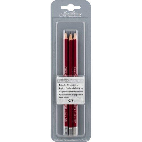 クレタカラー クレオス グラファイトペンシル 9H(3本入り) 160 19 X3
