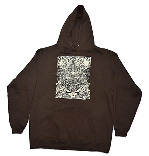 Blue Mountain Dyes LLC Grateful Dead Hooded Sweatshirt Aiko Hoodie (Large) Dark Brown