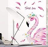 Stickers Muraux Chambre Adultes Flamant Rose Romantique Pour Chambre D'Enfants Décoration Décoration Chambre Affiche Papier Peint 120X100Cm
