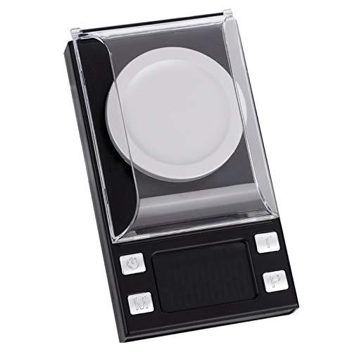 DAUERHAFT Digitales Taschenwaagen Set, mit 2 AAA Batterien, LED HD Display, hohe Präzision 0,001 g, Mini Waage elektronische Grammwaage, für Medizin, Münzen messen(50g/0.001g)