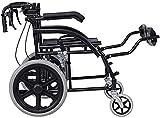 JYHS Fauteuil roulant autopropulsé léger et pliable en acier avec pédale...