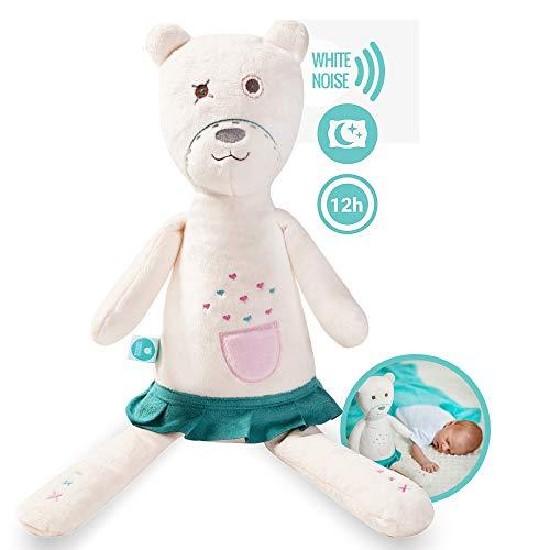 Herzschlag und wei/ßes Rauschen zur Beruhigung myHummy Baby Einschlafhilfe Ger/äusche B/är Max grau Automatische Abschaltung Schlafsensor Mobile App Sleep Aid White Noise Sound Bear for Babys