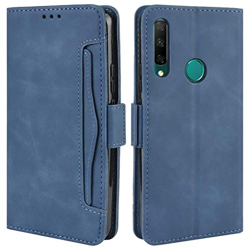 HualuBro Handyhülle für Huawei Honor 9X Hülle Leder, Flip Hülle Cover Stoßfest Klapphülle Handytasche Schutzhülle für Huawei Honor 9X Tasche (Blau)