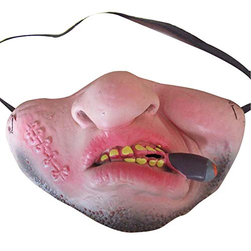 KEIBODETRD Lustige Erwachsene Party Maske Latex Halbes Gesicht Scary Maske Clown Rollenspiele Halloween Party Dekoration Cosplay