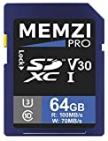 MEMZI PRO 64 Go 100 Mo/s Carte Mémoire SDXC pour Nikon Coolpix B700, B600, B500,...