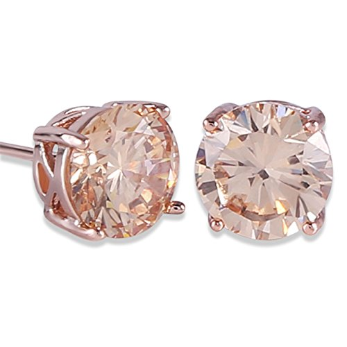 """stud earrings stone size: 7mm /0.28"""". Stone Color:Yellow; Main Stone Size:7mm/0.28"""";Cut: Round Brilliant This Earing will be a good gift. Shipped out in an exquisite jewelry gift box which can be used as a gift. It's an excellent gift for anniversari..."""