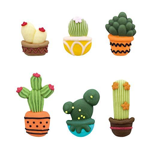 Zuckerfiguren Set Kaktus, 24 Stück