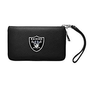 NFL Oakland Raiders Zip Organizer Pebble Wallet