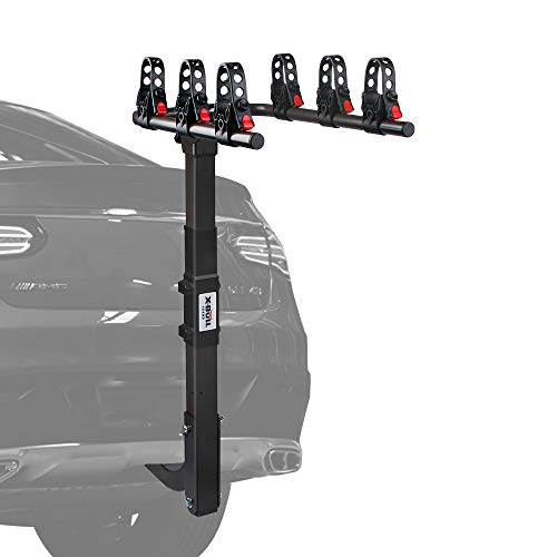 X-BULL Sports 3 Bike Hitch Racks for 2 in.Hitch Dual Compound Spine Shield Hitch Bicycle Carrier Racks Mount Double Foldable Rack for Cars, Trucks, SUV