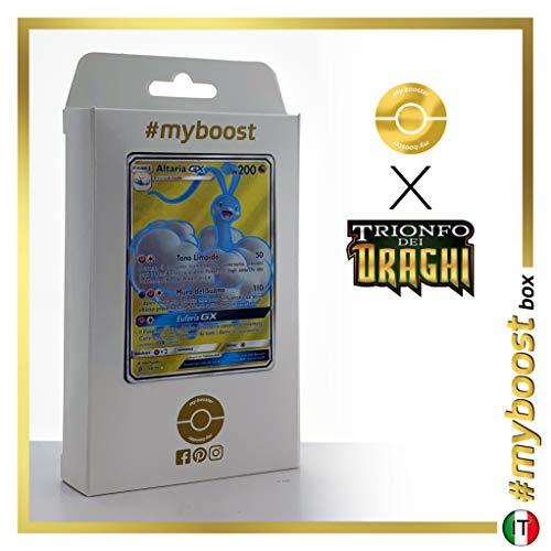 Altaria-GX 68/70 Full Art - #myboost X Sole E Luna 7.5 Trionfo dei Draghi - Box di 10 Carte Pokémon Italiane