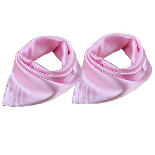 roichic Damen plain halstuch hölle rosa x2 einheitsgröße