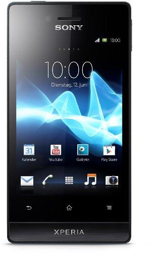 Sony Xperia miro Smartphone (8,9 cm (3,5 Zoll) Touchscreen, 5 Megapixel Kamera, Android 4.0) schwarz