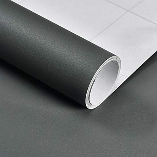 Hode Klebefolie Selbstklebende Möbelfolie Modern Folie für Arbeitsplatte Wände Tür Schränke Wasserdicht Dukelgrau 40x300cm