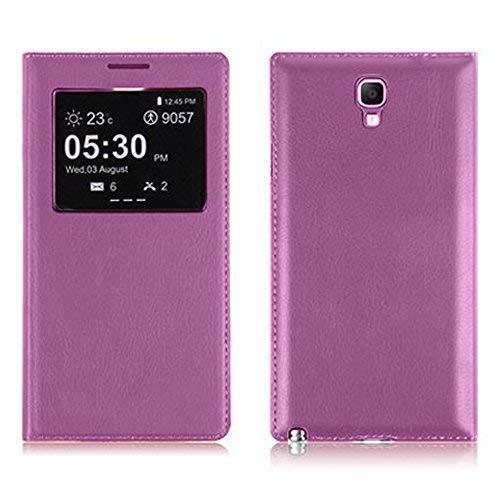 VCOMP ® Flip-Cover Case Hülle Schale Ansicht Kompatibel für Samsung Galaxy Note 3 Neo/Lite Duos 3G LTE SM-N750 SM-N7505 SM-N7502 - VIOLETT
