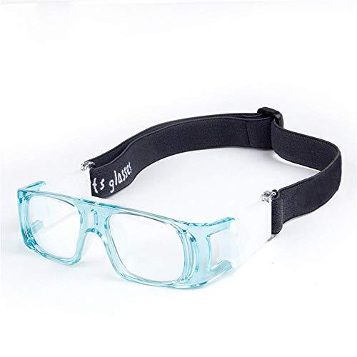Aeromdale Sports Goggles Gafas Protectoras de protección de Seguridad para el Baloncesto con Correa Ajustable para Baloncesto Fútbol Voleibol Hockey Protector de Gafas para niños - Azul Claro - # 9