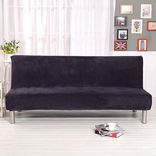 G&X Armloser Sofa- / Bettüberzug aus Polyester/Spandex, Stretch, 3-Sitzer, elastisch, vollständig faltbar, für Schlafsofa grau