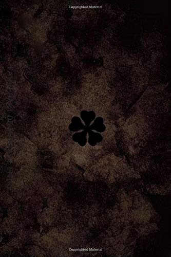 Notebook: Five-Leaf Clover Grimoire Notebook Journal 6 x 9 120 ruled pages: 5 Leaf clover for anime lovers