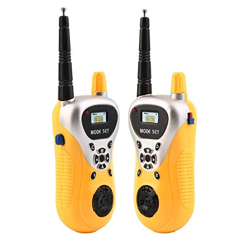 HOMULLS Walkie Talkie with Range Upto 100 Feet, 2 Player System Toy for Kids (Multi-Color)