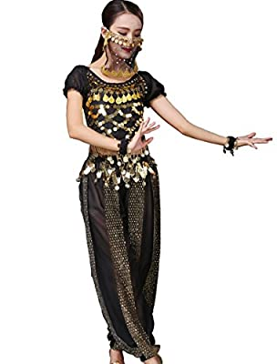 Astage Lady Belly Dancer Costume Halloweem Performance Wear All Sets