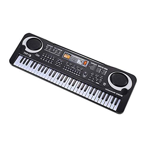 61 Tasten Elektronische Musik Keyboard Elektrische Orgel mit Mikrofon Kinder Musikinstrument Frühe Lernprogramm für Kinder