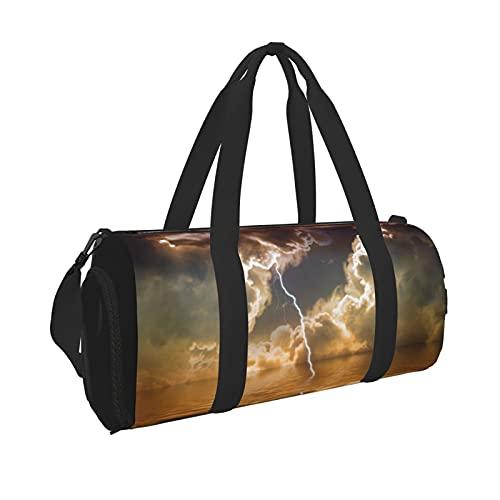 Flash Thunderstorm Clouds Storm Sport Gym Bag Impermeabile Grande Capacità Borsone Portatile Da Viaggio Borsone Da Viaggio Adatto per Uomini e Donne