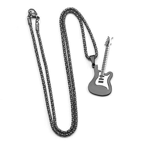 MINTUAN Mini Collar de Guitarra eléctrica con Soporte, Instrumentos Musicales en Miniatura,...
