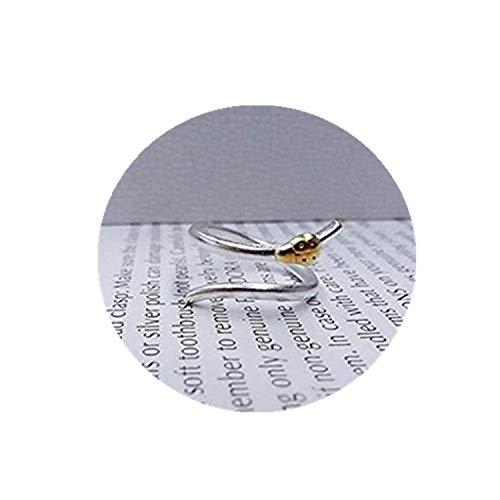Anillo de plata de ley con diseño de mariquita de One Life