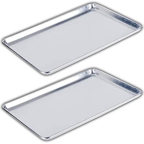 Bakeware Set – 2 Aluminum Sheet Pan – Full Size (18' x 26') – for Commercial or Home Use. Non Toxic, Perfect Baking Supply set for gifts, for new and experienced bakers alike