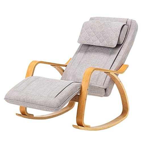 SPFOZ Haus Dekoration Moderne Massagestuhl 3D voller Rückenlehnensessel Vibrationsfunktion 8 Massagemodi Rocking Chaise Lounge-Stuhl for Älteste