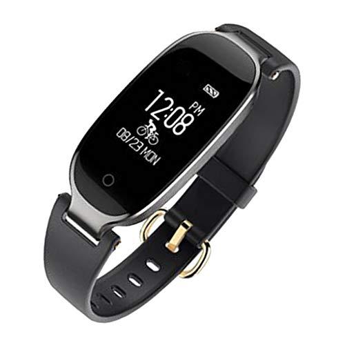 B Blesiya Smart Watch Cardiofrequenzimetro Pressione Sanguigna Fitness Tracker Android Ios - Nero, come descritto