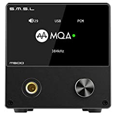♫ USB input supports MQA decoding ♫ M500 uses top performance ES9038PRO D/A chip from ESS Technology ♫ XMOS XU-216, true 32bit audio processing, supports DoP and Native DSD, and reaches 32bit/768kHz and DSD512 ♫ Ultra-low phase noise and optimized cl...