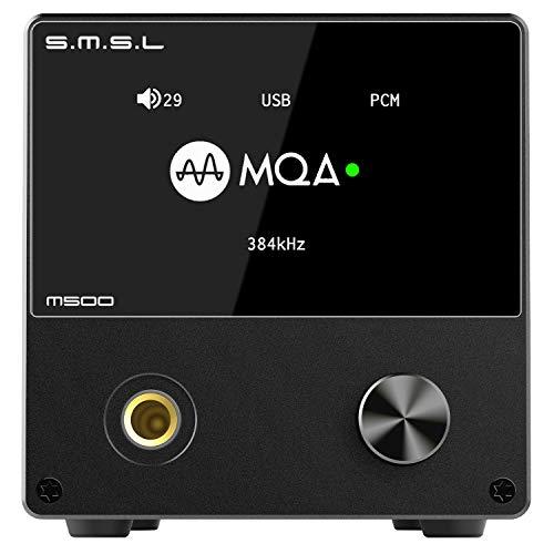 S.M.S.L M500 L'amplificatore per cuffie DAC supporta la decodifica MQA Chip D / A ES9038PRO USB Utilizza XMOS XU-216 con telecomando (black)