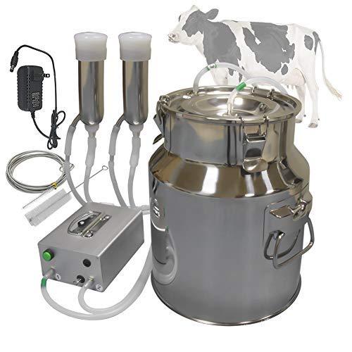 Hantop Cow Goat Milking Machine, Pulsation Vacuum Pump Milker, Automatic Portable Livestock Milking Equipment (14L,for Cow)