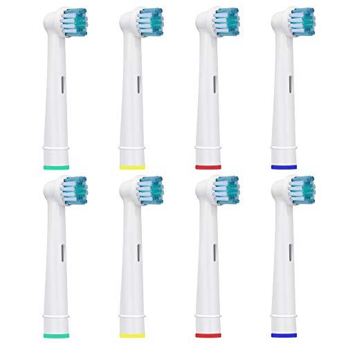 Testine Spazzolino Ricambio Per Oral B - Adatto Spazzolino Elettrico Oral B Sensitive, Crossaction, Professional Care, Vitality, ecc - Di HSYTEK