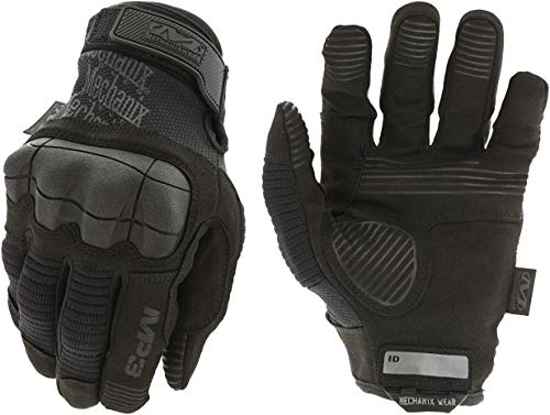 Mechanix Wear MP3-55-010 : M-Pact 3 Covert Tactical Work Gloves (Large, All Black)