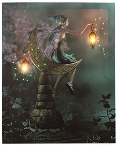 Oak Street Wholesale 17' x 14' Flickering LED Lighted Canvas #402- Lighted Fairy