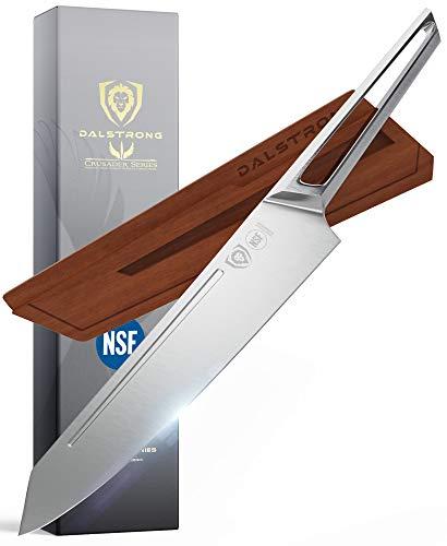DALSTRONG Edles Kiritsuke Messer - Küchenmesser mit Klingenschutz - 22 cm - Crusader Series - aus Deutschem ThyssenkKrupp Edelstahl