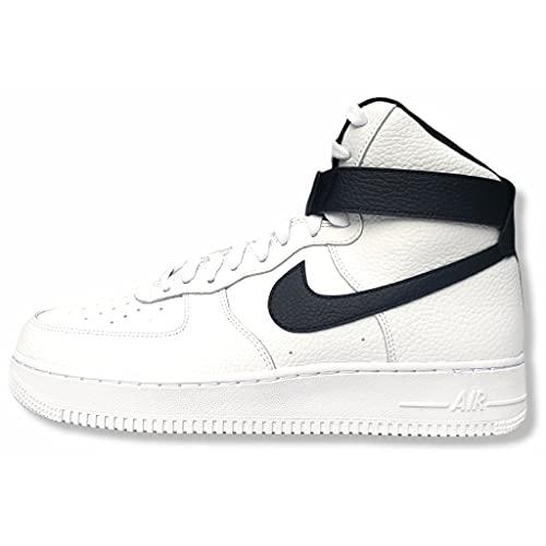 Nike Mens Air Force 1 High '07, White/Black, 12