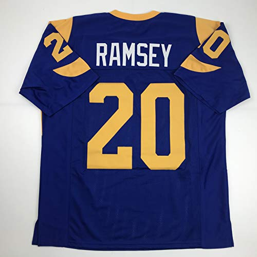 Unsigned Jalen Ramsey Los Angeles LA Retro Blue Custom Stitched Football Jersey Size Men's XL New No Brands/Logos