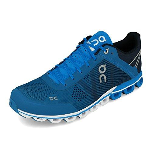 On Running Cloudflow Herren-Sneaker, Blau (Fluss/Marineblau), 45 EU