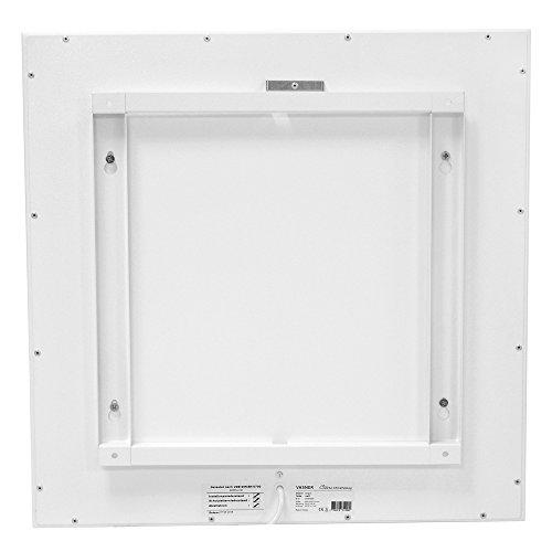 VASNER Citara Glas Infrarotheizung 650 Watt weiß 62 x 92 cm Wandmontage mit Bild 5*