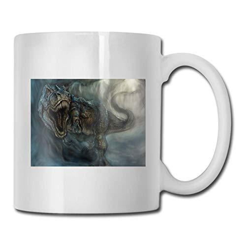 Taza de Tyrannosauru, taza de café para bebidas calientes, taza de gres, taza de café de cerámica, taza de té de 11 oz, regalo divertido, taza de té y café