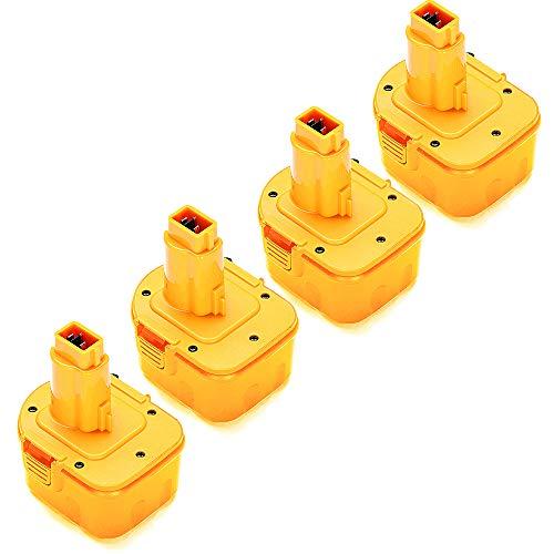 4-Pack 12V 3600mAh DC9071 XRP Battery Replacement for DeWalt 12Volt Battery DW9071 DW9072 DE9037 DE9071 DE9072 DE9074 DE9075 Compatible with DeWalt 12 Volt Ni-Hh Batteries