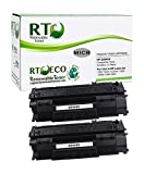 Renewable Toner Compatible High Yield MICR Toner Cartridge Replacement for HP 49X Q5949X Laserjet 1320 1320 3390 3392 (Pack of 2)